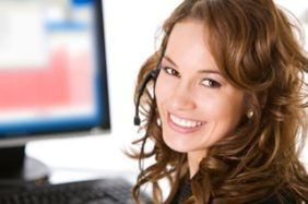 Virtual receptionist answering business calls